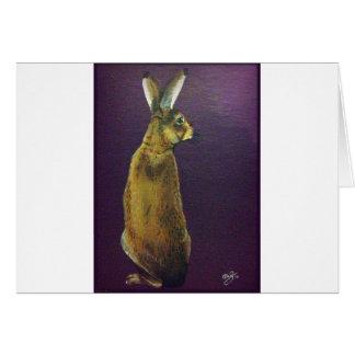 Rabbit.jpg púrpura tarjeta de felicitación