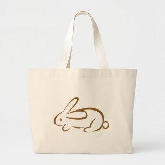 rabbit jumbo tote bag