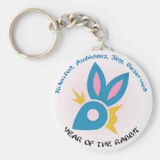 Rabbit Keys Basic Round Button Keychain