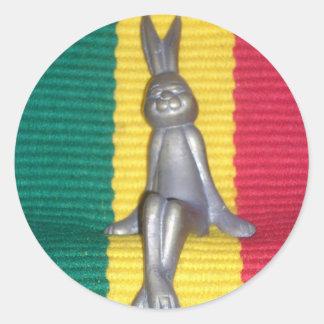 Rabbit Kingston jamaica Glory.png Classic Round Sticker