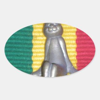 Rabbit Kingston jamaica Glory.png Oval Sticker