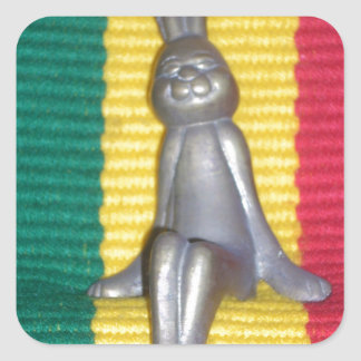 Rabbit Kingston jamaica Glory.png Square Sticker