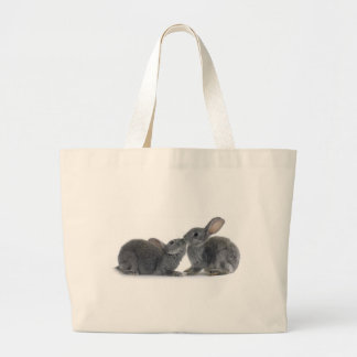 Rabbit Kiss Large Tote Bag
