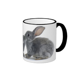 Rabbit Kiss Ringer Coffee Mug