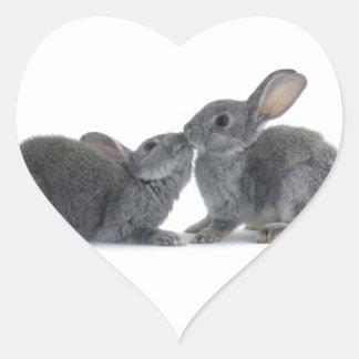 Rabbit Kiss Sticker