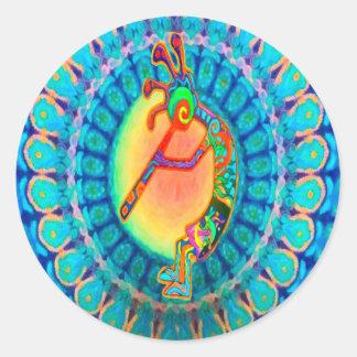 Rabbit Kokopelli Classic Round Sticker