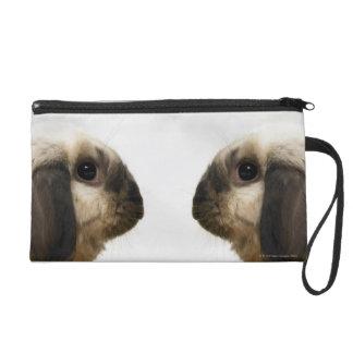 Rabbit looking at rabbit wristlet purse