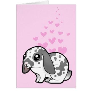 Rabbit Love (floppy ear smooth hair) Card