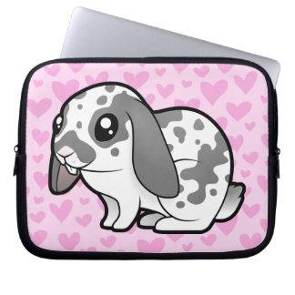 Rabbit Love (floppy ear smooth hair) Computer Sleeve