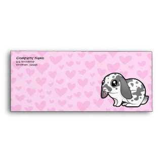 Rabbit Love (floppy ear smooth hair) Envelope