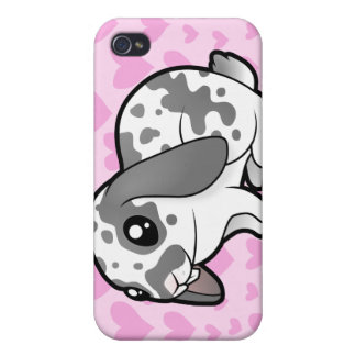 Rabbit Love (floppy ear smooth hair) iPhone 4 Case