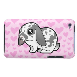 Rabbit Love (floppy ear smooth hair) iPod Touch Case-Mate Case