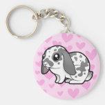 Rabbit Love (floppy ear smooth hair) Key Chain
