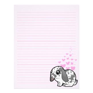 Rabbit Love (floppy ear smooth hair) Letterhead