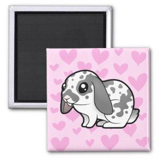 Rabbit Love (floppy ear smooth hair) Magnet