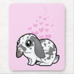 Rabbit Love (floppy ear smooth hair) Mouse Pad