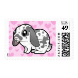 Rabbit Love (floppy ear smooth hair) Postage Stamps