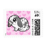 Rabbit Love (floppy ear smooth hair) Postage Stamp