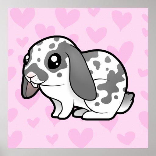 Rabbit Love (floppy ear smooth hair) Posters
