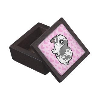 Rabbit Love (floppy ear smooth hair) Premium Trinket Box