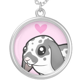 Rabbit Love (floppy ear smooth hair) Silver Plated Necklace