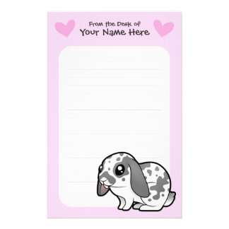 Rabbit Love (floppy ear smooth hair) Stationery