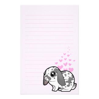 Rabbit Love (floppy ear smooth hair) Stationery Design
