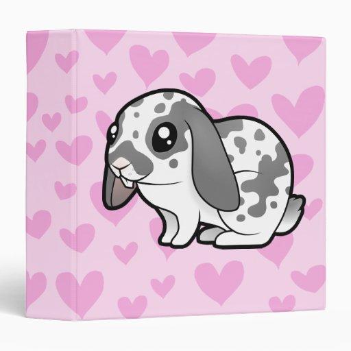 Rabbit Love (floppy ear smooth hair) Vinyl Binders