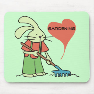 Rabbit Love Gardening Tshirts and gifts Mouse Pad