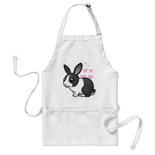 Rabbit Love (uppy ear smooth hair) Adult Apron