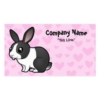 Rabbit Love (uppy ear smooth hair) Business Card