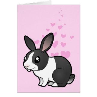 Rabbit Love (uppy ear smooth hair) Cards