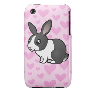 Rabbit Love (uppy ear smooth hair) Case-Mate iPhone 3 Cases