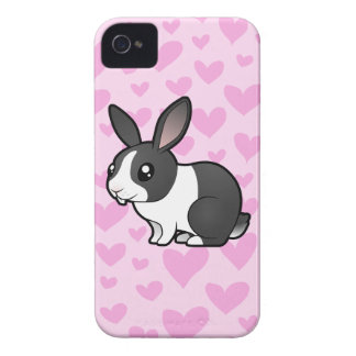 Rabbit Love (uppy ear smooth hair) Case-Mate iPhone 4 Case