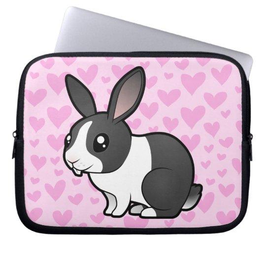 Rabbit Love (uppy ear smooth hair) Computer Sleeve
