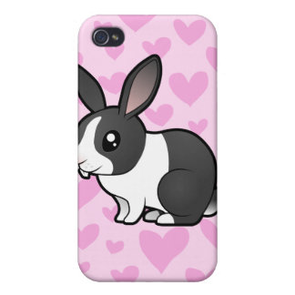Rabbit Love (uppy ear smooth hair) Cover For iPhone 4