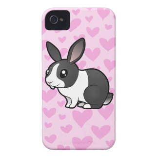 Rabbit Love (uppy ear smooth hair) iPhone 4 Case