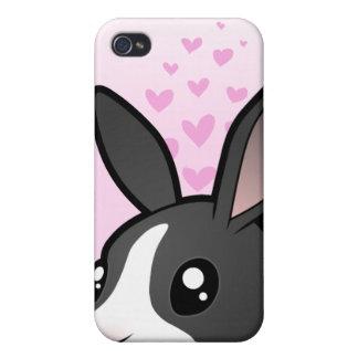Rabbit Love (uppy ear smooth hair) iPhone 4 Cases