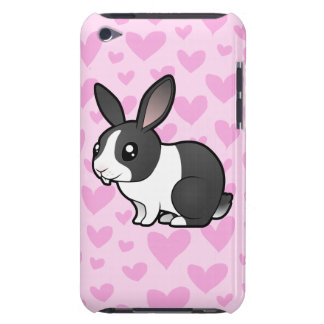 Rabbit Love (uppy ear smooth hair) iPod Touch Case-Mate Case