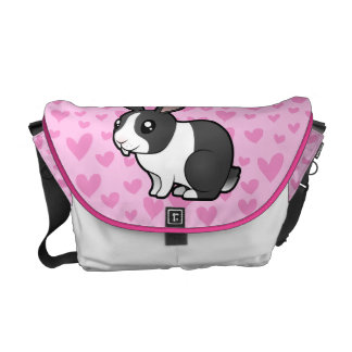 Rabbit Love (uppy ear smooth hair) Messenger Bag