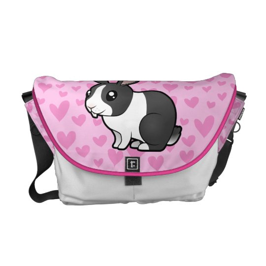 Rabbit Love (uppy ear smooth hair) Messenger Bag
