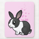 Rabbit Love (uppy ear smooth hair) Mouse Pad