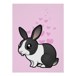 Rabbit Love (uppy ear smooth hair) Poster