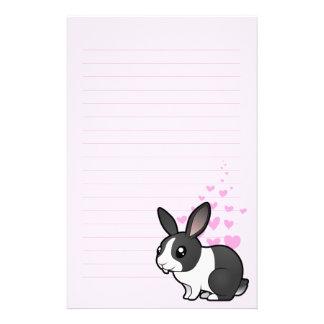 Rabbit Love (uppy ear smooth hair) Custom Stationery