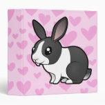 Rabbit Love (uppy ear smooth hair) Vinyl Binder