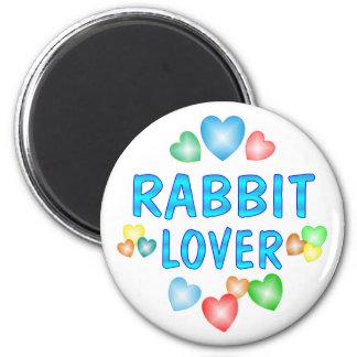RABBIT LOVER 2 INCH ROUND MAGNET