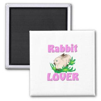 Rabbit Lover 2 Inch Square Magnet