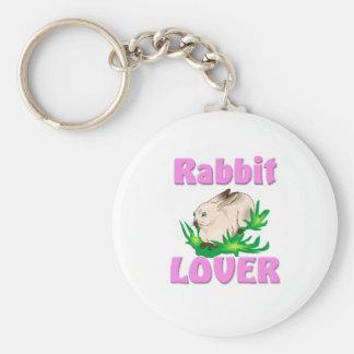 Rabbit Lover Basic Round Button Keychain