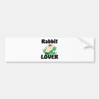 Rabbit Lover Car Bumper Sticker