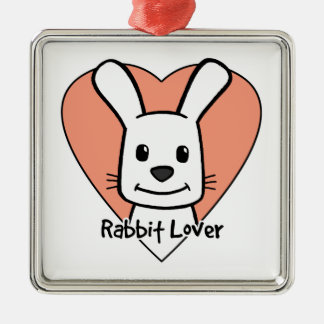 Rabbit Lover Metal Ornament